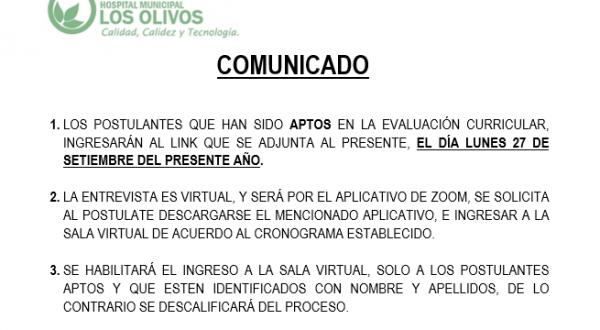 COMUNICADO CAS003
